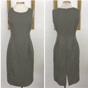 Calvin Klein  Gray Career Sheath Shift Midi Dress